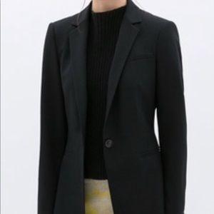 Zara Basic navy pin striped blazer size xl